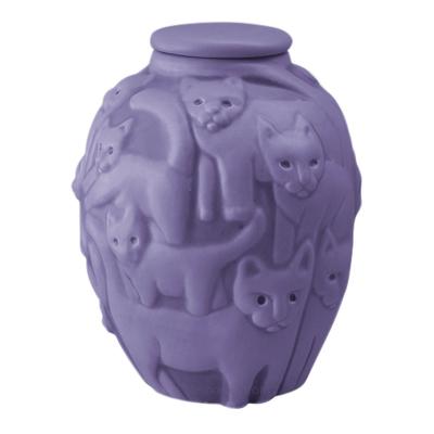 Clever Cat Lavender Cremation Urn
