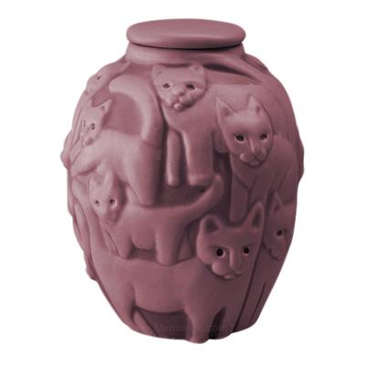 Clever Cat Purple Sage Cremation Urn
