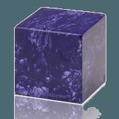 Cobalt Cube Keepsake Cremation Urn