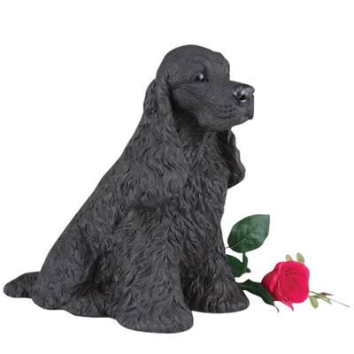 Black Cocker Spaniel Cremation Urn
