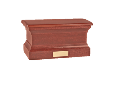 Colonnade Burgundy Wood Cremation Urn
