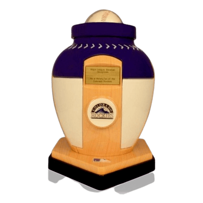 Colorado Rockies Baseball Cremation Urn