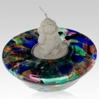 Colorburst Candle Glass Pet Urn