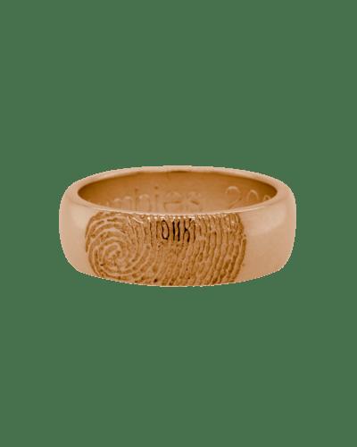 Partial Fingerprint 14k Rose Gold Ring