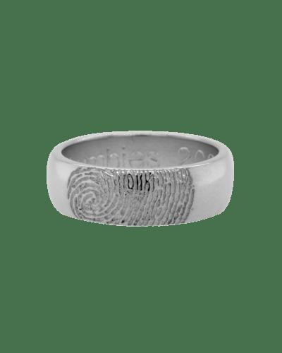 Partial Fingerprint  Sterling Silver Ring