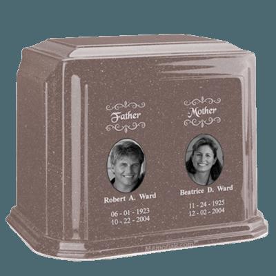 Millennium Basil Wood Companion Marble Urn