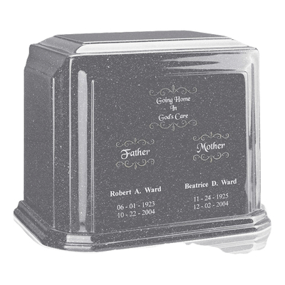 Gray Marble Urns For Two