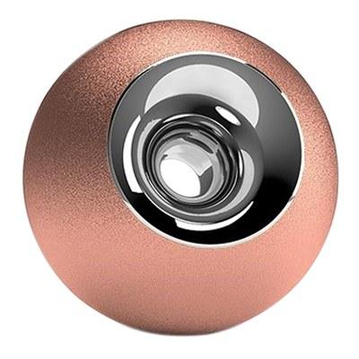 Copper & Chrome Sphere Pet Urn