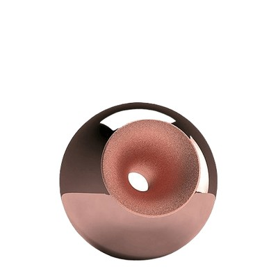 Copper Modern Orb Small Urn