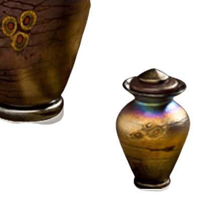 Cosmic Glass Keepsake Urn
