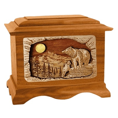 Country Haven Mahogany Cremation Urn