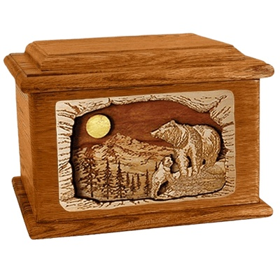 Country Haven Mahogany Memory Chest Cremation Urn