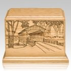 Covered Bridge Keepsake Cremation Urn