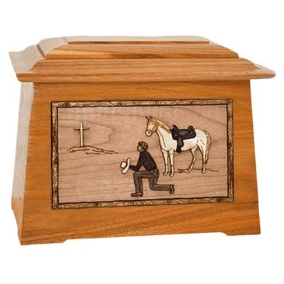 Cowboy Mahogany Aristocrat Cremation Urn