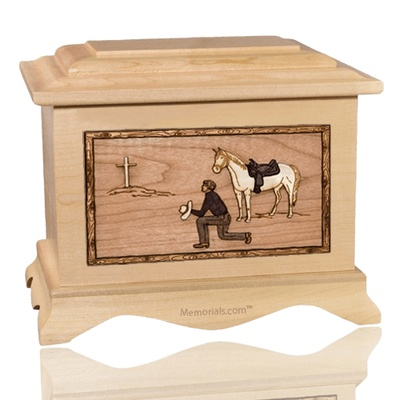 Cowboy Maple Cremation Urn