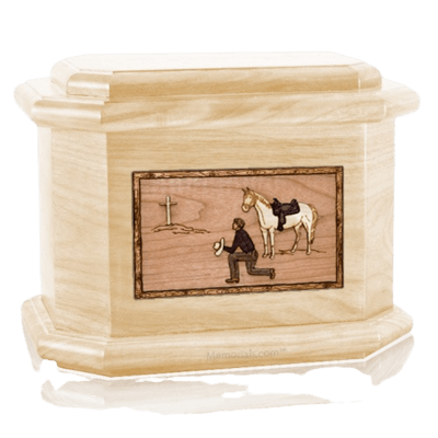 Cowboy Maple Octagon Cremation Urn