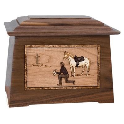 Cowboy Walnut Aristocrat Cremation Urn