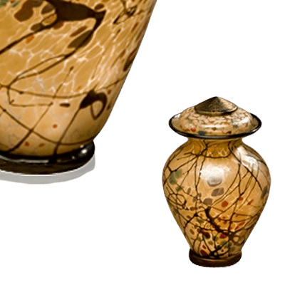 Creative Motion Keepsake Glass Urn