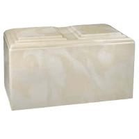 Creme Marble Companion Cremation Urn