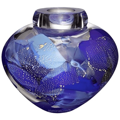 Crest Glass Cremation Urn