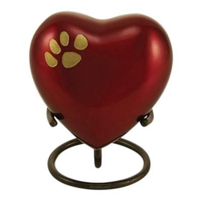 Crimson Heart Pet Keepsake Urn