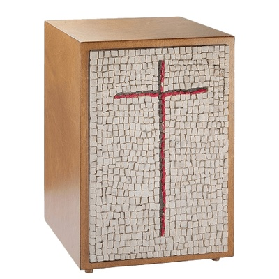 Cross Mosaic Cremation Urn