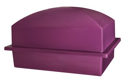 Luxury Purple Cremation Urn Vault