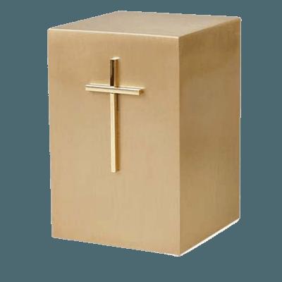 Cruz de Oro Bronze Cremation Urn