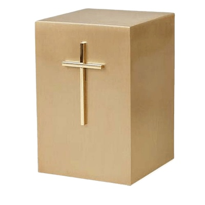 Cruz de Oro Bronze Cremation Urn