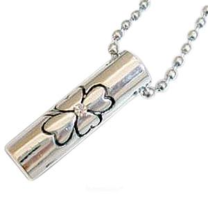 Crystal Clover Cremation Jewelry