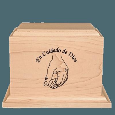 Cuidado de Dios Urna de Madera para Ninos