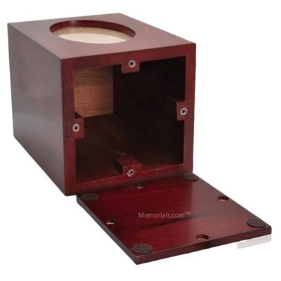Cushy Wood Photo Cremation Urn