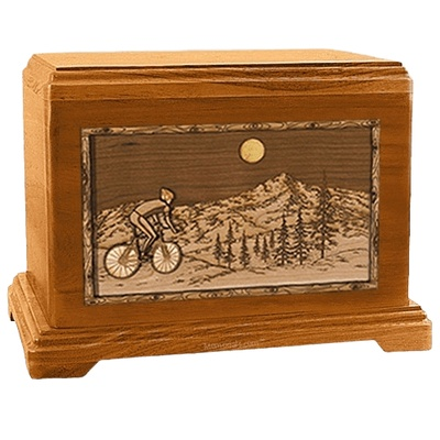 Cycling Mahogany Hampton Cremation Urn
