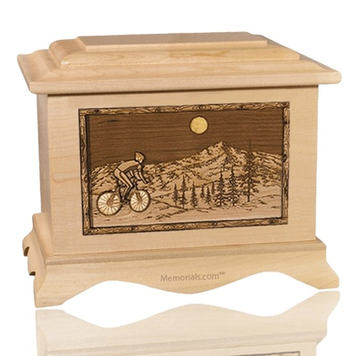 Cycling Maple Cremation Urn