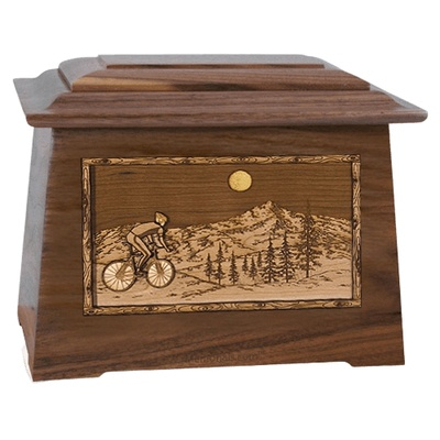 Cycling Walnut Aristocrat Cremation Urn