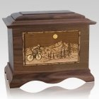Cycling Wood Cremation Urns