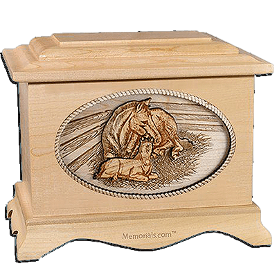 Daddys Love Maple Cremation Urn for Two