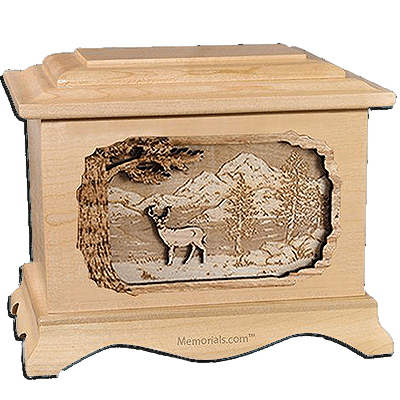 Deer Maple Cremation Urn For Two
