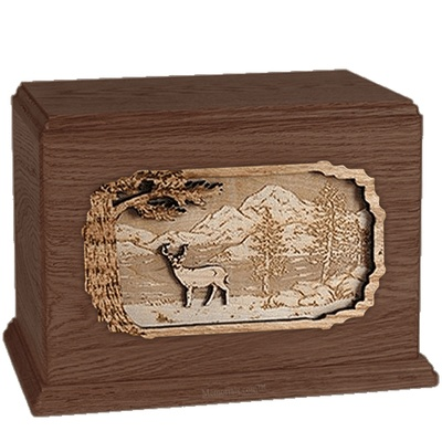 Deer Walnut Companion Urn