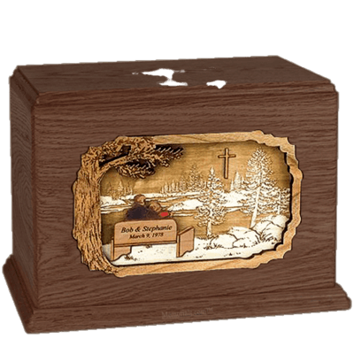 Devoted Walnut Companion Urn