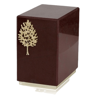 Dignity Rosso Laguna Marble Cremation Urns
