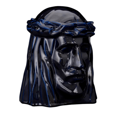 Christ Cobalt Cremation Urn