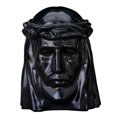 Christ Black Cremation Urns