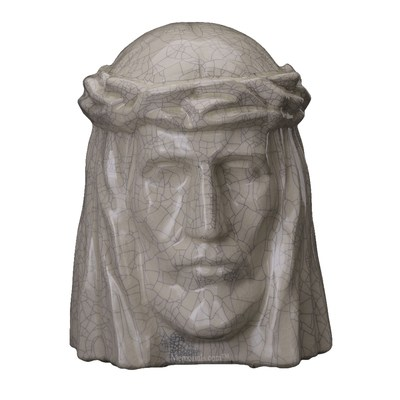Christ Crackled Cremation Urn