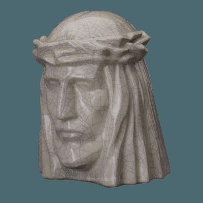Christ Crackled Cremation Urn
