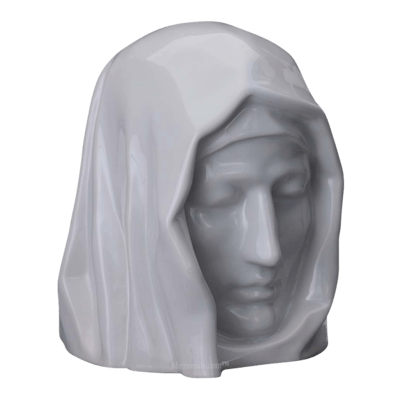 Holy Mother White Cremation Urn