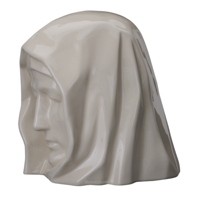 Holy Mother Glossy Cremation Urn