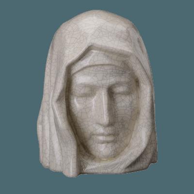 Holy Mother Crackled Cremation Urns