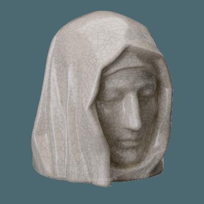 Holy Mother Crackled Cremation Urn