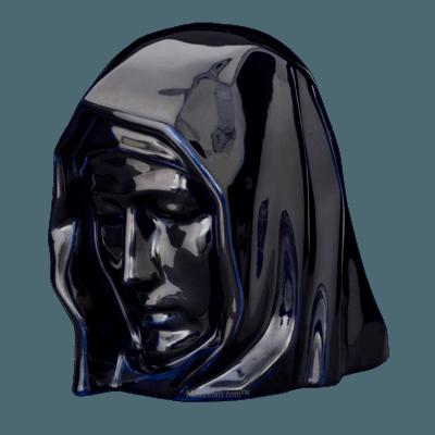 Holy Mother Cobalt Cremation Urn